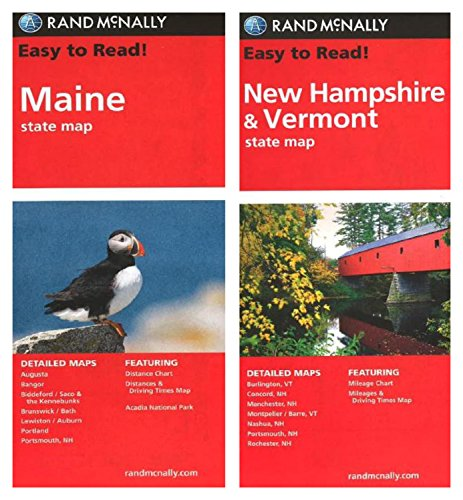 Rand McNally State Maps: Maine and New Hampshire/Vermont (2 Maps)
