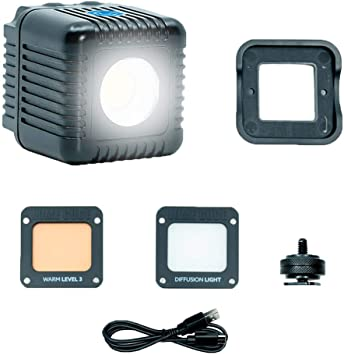 Smartphone Canon Panasonic Nikon GoPro Video Waterproof On-Camera LED for Sony and Content Creation Fuji Lume Cube AIR LED Light for Photo