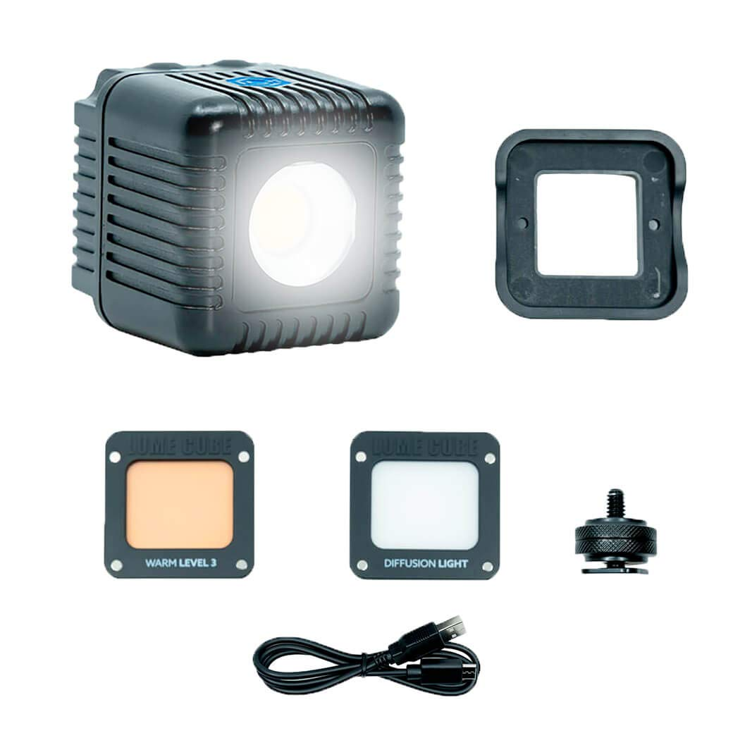 Lume Cube 2.0 - Daylight Balanced LED Light for Photo, Video, Content Creation, Includes Warming Gel, Diffuser, DSLR Camera Mount for Sony, Nikon, Panasonic, Fuji, Canon, GoPro, Drones by Lume Cube