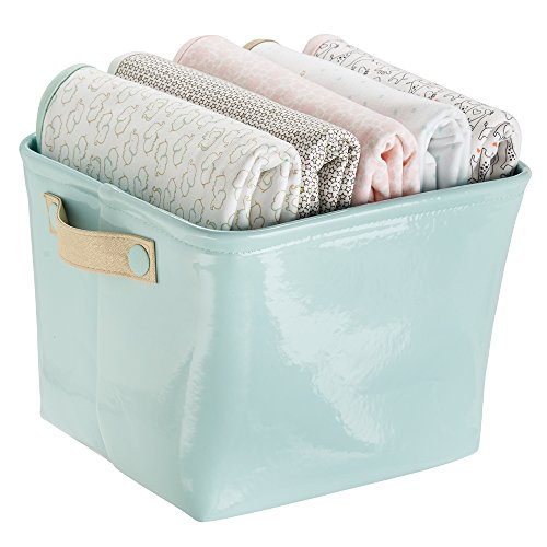 mDesign Nursery Organizer Storage Blankets