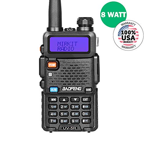 BaoFeng UV-5R MK4 8W High Power 2019 Two Way Amateur (Ham) Radio Walkie Talkie, Mirkit Edition