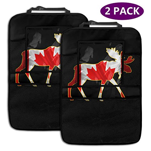 Gioro-CSC 2 Pack Backseat Car Organizer, Flag of Canada Car Backseat Organizer for Toys Book Bottle Drinks Kids Baby Toddler Travel Accessories