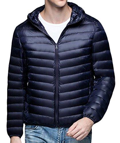 Packable Blue Casual Men's Puffer Hooded Down US Navy Coat Jacket EKU M Warm 4wxOHtUZ