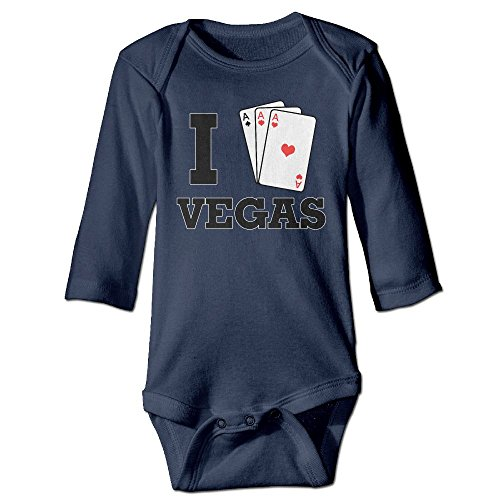 I Love Vegas Ace Hearts Funny Halloween Printed Jumpsuit For Baby 0-24 (Halloween Song Lyrics For Toddlers)