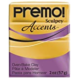 Sculpey PE02 5055 Oven Bake Clay premo! Accents-18K Gold