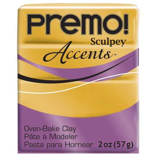 Sculpey Premo Polymer Clay 2 Ounces-18K Gold