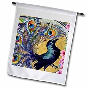 TNMPastPerfect Animals - Pretty Peacock - 18 x 27 inch Garden Flag (fl_60804_2)
