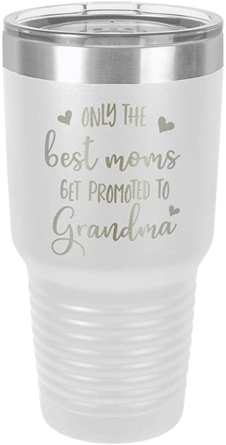Nana Gift  Insulated Travel Mug Tumbler 30 oz Metal Etched Engraved Only the Best Get Promoted to Nana