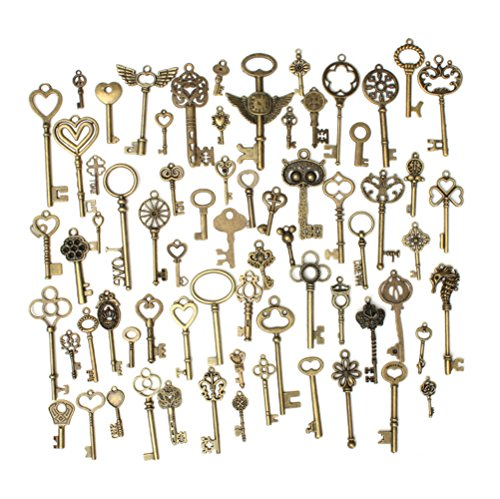 LAAT Clock Gears Steampunk Gear Charms Gram DIY Assorted Antique Cog Wheel Watch Parts Gears Wheels Pendant Jewelry Making Accessory DIY Crafts-80PCS (1) from LAAT