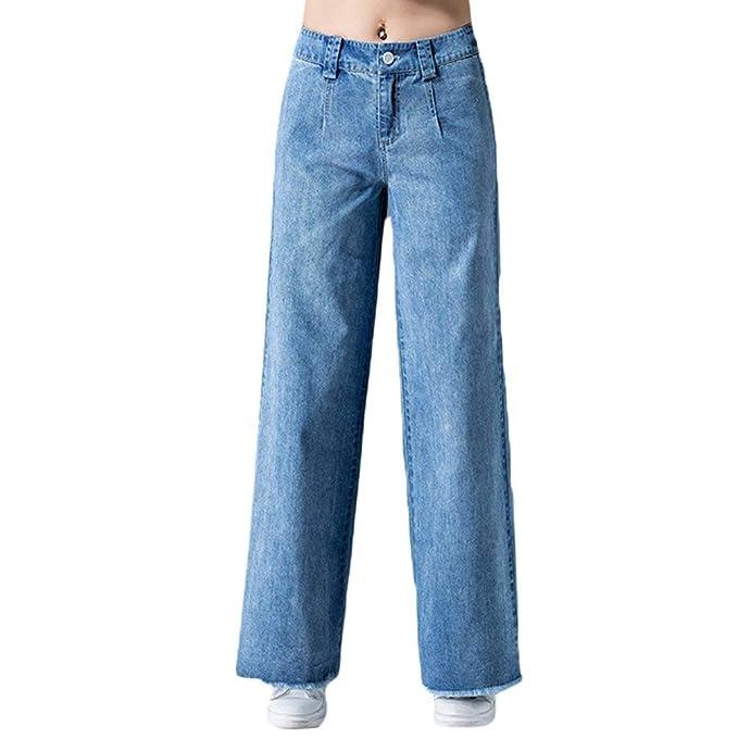 Pantalones Anchos De Las Mujeres Pantalones Vaqueros De ...