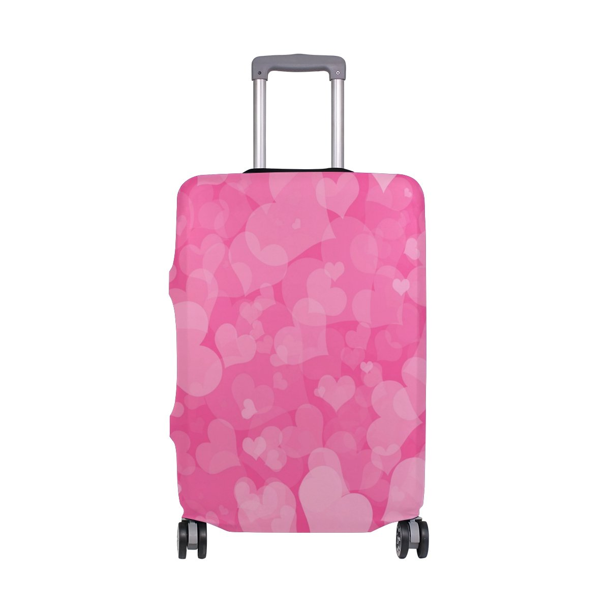 My Daily Hearts Valentine's Day Wedding Luggage Cover Fits 28-29 Inch Suitcase Spandex Travel Protector L