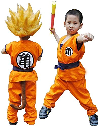 HOLRAN Dragon Ball Z Son GOKU Saiyan cosplay costume Kids uniform (X-SMall) (Goku Costume Adult)