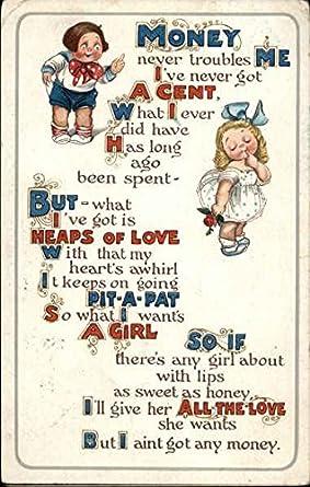 Amazon com: Kewpie kids love poem Comic Funny Original