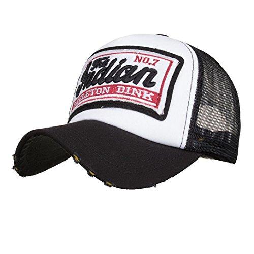 (GREFER Summer Unisex Embroidered Cap Mesh Hats For Men Women Hats Hip Hop Baseball Caps)