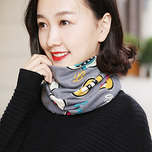 Peaches Elastic - GAOQIANGFENG Hat female head cap scarf set all-match Korean spring tide dual-purpose thin pile cap cap of Baotou spring and autumn days,All elastic,Colorful peach grey