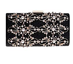 Women's Gold Silver Crystal Clutch