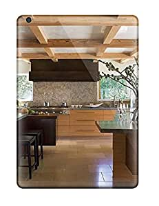 New Style Case Cover CShKjfy7607MNrEL Kitchen With Two Islands Wooden Beams Amp Pizza Oven Compatible With Ipad Air Protection Case