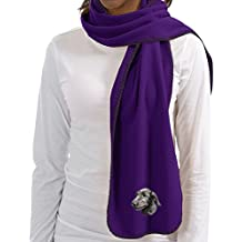 Cherrybrook Purple Dog Breed Embroidered Lightweight Scarves (All Breeds)