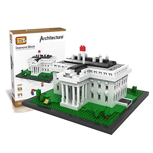 LOZ Building Blocks The White House Famous Building Architectural Mini Model Building Bricks 1170 PCS