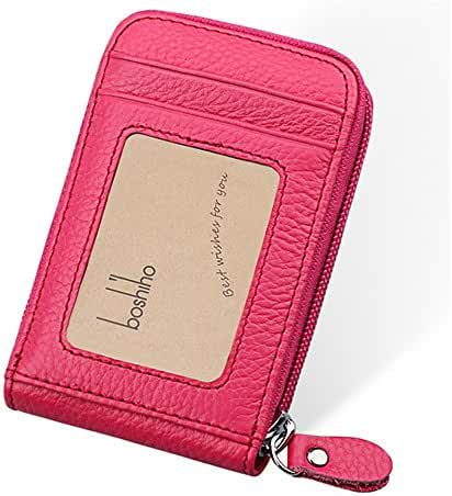 Boshiho RFID Blocking Wallet Genuine Leather Credit Card Holder Organizer