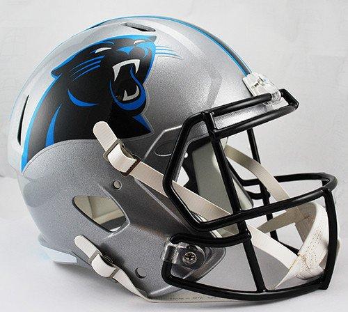 Carolina Panthers Deluxe Replica Speed Helmet - Licensed NFL Football Merchandise