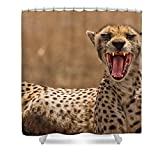 Pixels Shower Curtain (74'' x 71'') ''Cheetah''