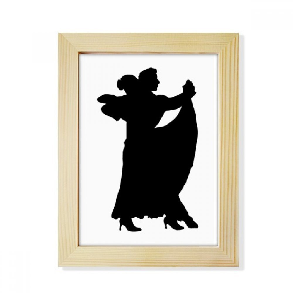 DIYthinker Dancer Duet Art Performance Duet Dance Desktop Wooden Photo Frame Picture Art Painting 6x8 inch