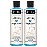 Prello Coffee Pot & Mug Cleaner | Coffee Maker Cleaner, Machine Descaler and Stain Remover for Carafes, Cups, Mugs (Pack of 2) Review