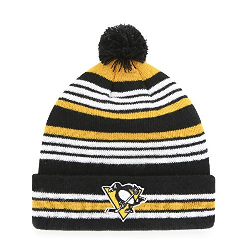 wholesale dealer 35b1a e77f5 NHL Pittsburgh Penguins Kid s Rickshaw OTS Cuff Knit Cap with Pom, Black,  ...