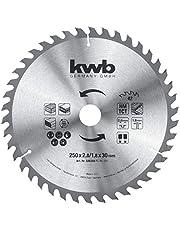 kwb 589359 cirkelsågblad 250 x 30, sågblad för bordsrundsågar, växeltand f. medelsnitt, Z-42 kuggar