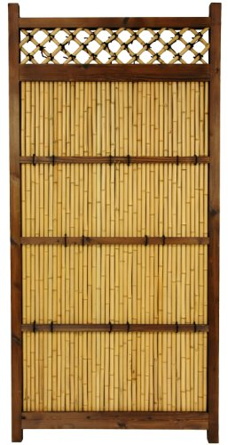 Zen Garden Fence - ORIENTAL FURNITURE 6 ft. x 3 ft. Japanese Bamboo Zen Garden Fence