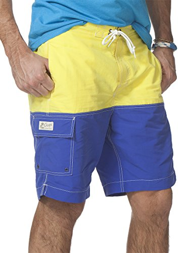 UPC 889043537533, Chaps By Ralph Lauren Men's Color Block Swim Trunks (X-Large, Acid yellow)