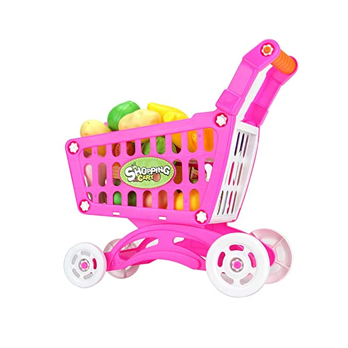 Amazon.com: LtrottedJ Shopping Carts Fruit Vegetable Pretend Play Children Kid Educational Toy (Red): Toys & Games