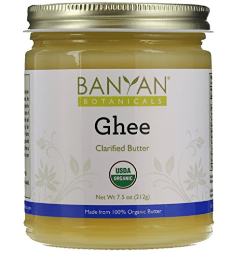 Banyan Botanicals Ghee - Certified Organic - From Grass Fed Cows - 7.5 oz - Gourmet Clarified Butter