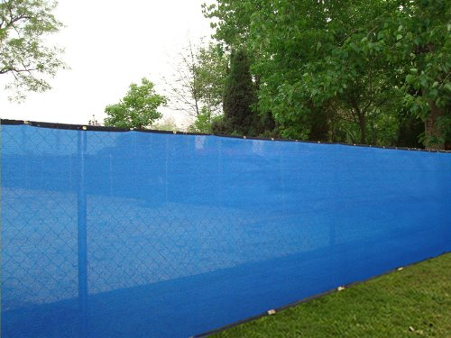 6ft. X 50ft. Royal Blue Privacy Fence Screen Shade Cloth 85 Blockage