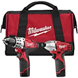 Milwaukee M12 12-Volt Lithium-Ion Cordless Drill Driver/Impact Driver Combo Kit (2-Tool) with 2 Red Lithium Batteries