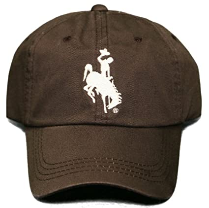 NEW!! University of Wyoming Cowboys Buckle Back Cap - Embroidered Hat -  Brown