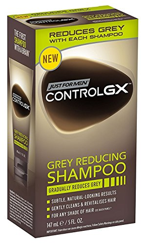 Control Shampoo (Just For Men Control Gx 5 Ounce Shampoo Grey Reducing Boxed (147ml) (2 Pack))