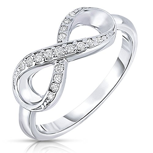 Sterling Silver Infinity Ring - 925 Sterling Silver Forever Infinity Ring with CZ (6)