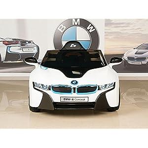 BMW-i8-12V-Kids-Ride-On-Battery-Powered-Wheels-Car-RC-Remote-White