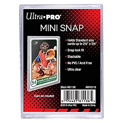 Ultra Pro Mini Snap Card Holder #81136 x10 + 550 Count Storage Box: Toys & Games