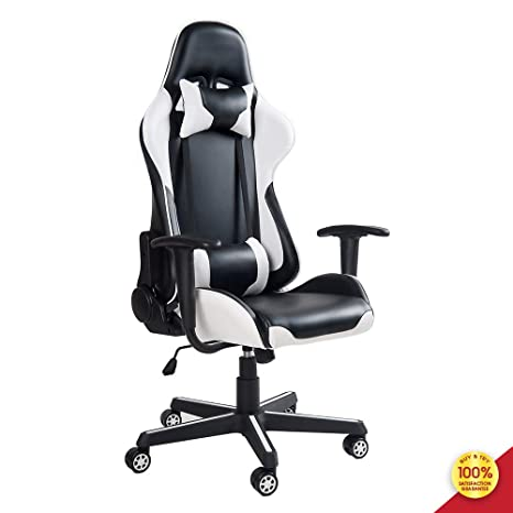 Awesome Mieres Video Gaming Chair Racing Office Pu Leather High Back Ergonomic 150 Degree Adjustable Swivel Executive Computer Desk Task Large Size Headrest Pdpeps Interior Chair Design Pdpepsorg
