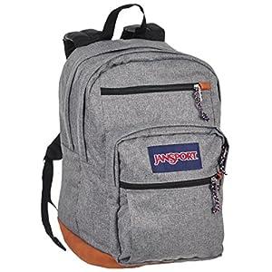 JanSport Unisex Cool Student Grey Letterman Poly Backpack