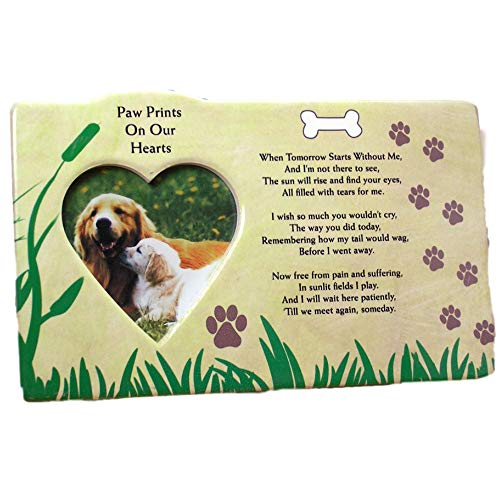 BANBERRY DESIGNS Dog Bereavement Memorial Photo Frame Inspirational Picture Frame