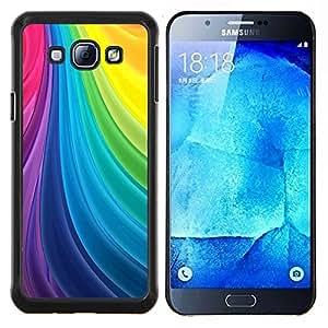 Líneas Vortex Seda paleta del arco iris gay- Metal de aluminio y de plástico duro Caja del teléfono - Negro - Samsung Galaxy A8 / SM-A800