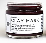 Cheap Whole Apothecary All Natural Organic Skin Care: Certified Organic Moisturizer for Dry Skin + Facial Exfoliator Hibiscus Clay Mask for Clear Skin