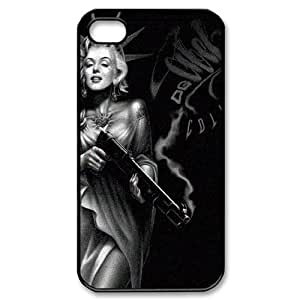 Super Movie Star Marilyn Monroe Pattern Productive Back Phone Case For Iphone 4 4S case cover -Style-1