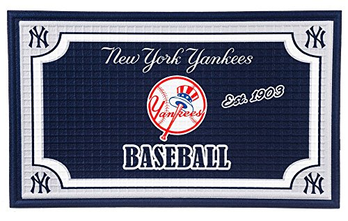 Team Sports America New York Yankees Embossed Floor Mat, 18 x 30 inches -