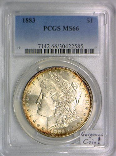 1883 No Mintmark Morgan Dollar MS-66 PCGS