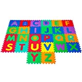 Large Foam Alphabet Learning Mat Puzzle - With 26 Interlocking Foam Tiles!